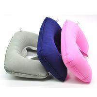 Wholesale Travel air pillow type U inflatable pillow pillow pillow cervical pillow care flocking neck pillow pillow g U