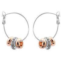 Wholesale Korean Fashion Brand Earrings For Girl k Gold Jewelry Crystal Hoop Earrings make with Swarovski Elements