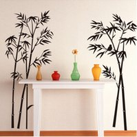 bamboo wall decals murals - Large Removable Living room bedroom TV backdrop Black Bamboo Mural Decal Wall Stickers CM CM