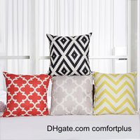 Wholesale D Digital Printing Geomatric Patterns Flax Cushion Covers Modern Throw Pillow Covers Without Insert