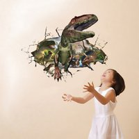 best price wallpaper - Best Price D Removable Dinosaur Through The Wall Wall Stickers Wallpaper DIY Art Kid Room Decal Home Decoration x CM