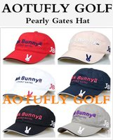 Wholesale Pearly Gates Jack Bunny Golf hat JB caps with top Adjustable outdoor sport hats colors