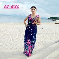 Wholesale 8 Size New Arrival Plus Size Dress Women Beach Long Dress Floral Print Casual Dress Good Quality