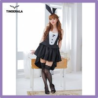 adult sexy outfits - Sexy Bunny Costume Black Bunny Halloween Bunny Outfit Temptation Cat Girl Bunny Christmas Dress Games Suits for adults