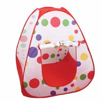 Wholesale Hot Sale Red Polka Dot Teepee Twist Play Toy Tents with Safety Visibility Meshing Tent for Children Kids