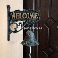 bell wall hanging - European style Wall hanging Roll of grass Styles Cast iron bell Iron bells Hand door bell bar