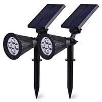 Wholesale in Solar Powered LED Outdoor Solar Lamp led Lighting System Light Lamp Landscape Lighting Outdoor Spotlight