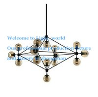 Cheap Modo Chandelier 10 globes 15 globes 21 globes Modern Glass Chandeliers Jason Miller pendant lamp Droplight Living Room Dining Room roll hill