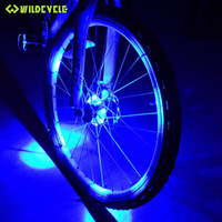 Wholesale New Bike Cycling Hubs Lights Front Rear Bicycle Light Spoke Decoration Warning LED Wheel Lamp Waterproof Bike Accessories
