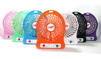 Wholesale 4 Inch Vanes USB Fan Speeds Portable Mini USB Rechargeable Desktop Fan wih LED Light