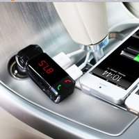 Wholesale 20pcs Wireless Stereo Bluetooth Car kit Handsfree Speakerphone car Charger in Bluetooth Adapter Wireless