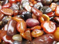 Wholesale 1lb Natural Riverbed Rough Red Fire Agate Freeform Shape Specimen