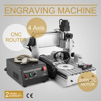 Wholesale USB CNC ROUTER ENGRAVER ENGRAVING CUTTER AXIS TCNC T USB Router Engraver Engraving Drilling and Milling Machine Four Axis