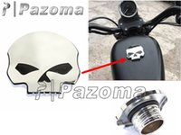Wholesale PAOZMA Brand New Chrome CNC Motorcycle Skull Fuel Gas Tank Cover Cap For Harley Up Sportster Motorbike