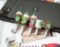 al por mayor taza tapón-Taza de café de la taza del enchufe de Starbuck Mini enchufe antipolvo lindo Protección ambiental universal Durable 5 estilos Regalos de los amigos
