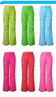 Wholesale GsouSnow Fashion Women Ski Pants Snow Pants Waterproof Windproof Breathable Snowboard Pants Optional Six Colors Models
