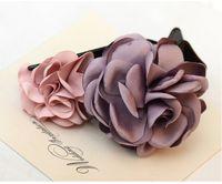 Wholesale Fashion retro high level custom cloth flower hairpin all match Hair ornaments