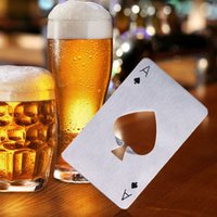 Wholesale New Stylish Hot Sale Stainless Steel Openors Poker Playing Card of Spades Bar Tool