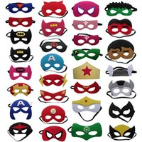 animal mask for kids - DHL Superhero Masks Cosplays Styles Batman Spiderman Iron cosplay Masks Hulk Thor star wars mask Halloween Party Costumes for Kids
