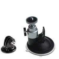 Wholesale 2016 new Car Vehicle Windshield Dashboard Ballhead Tripod Suction Cup Mount Adapter Holder for Gopro HD Hero
