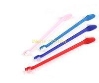 Wholesale Cheap Wholesale Pet Products - 200pcs lot Fast shipping Wholesale Cheap Pet Supplies Cat Puppy Dog Dental Grooming Toothbrush random color