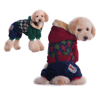 Wholesale Teddy fashionable dog clothes Pet clothes The winter four leg thick dog clothes