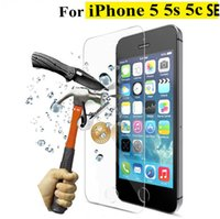 apple cleaners - Original mm D Tempered Glass Screen Protector For iPhone S c SE HD Toughened Protective Film Cleaning