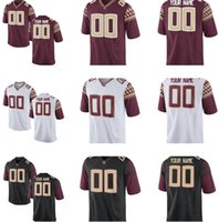 Wholesale Men s Women Youth Kids Florida State Seminoles Personalized Customized College Cheap jerseys White Red Black Top Quality Drop Shipping