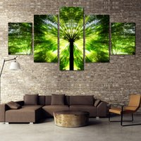 bamboo frame picture - Fashion New Green Bamboo canvas paitning HD Image Landscape Picture wall Painting home decoration For restaurant No Frame