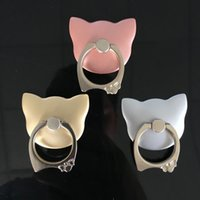 Wholesale Cute Pet Phone Stand Degree Rotating Cat Ring Grip Anti Drop Finger Holder for iPhone plus s