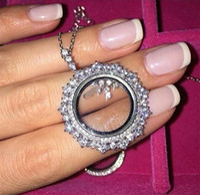real sterling silver jewelry - luxuryFashion real Sterling Silver jewelry High quality crystal CZ Diamonds PENDANT necklace women jewelry happy round classic PENDANT
