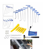 auto dent removal - Paintless Dent Repair Tools Latest Auto PDR Rods Dent Rod Car Crowbar Pump Wedge Hand Tool Set PDR Kits Herramentas