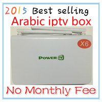 Wholesale New arabic iptv box quad core no monthly fee no yearly fee Arabic Android TV Box Plus IPTV Live Channels WiFi Tv Receiver arabic iptv