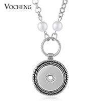 abalone buttons - VOCHENG NOOSA Pearl Necklace Ginger Snaps Jewelry Round Pendant Fit mm Button NN