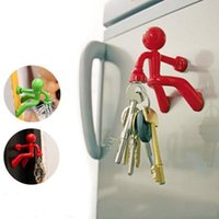 Wholesale Novelty home decor Wall Climbing Boy Magnetic Key Holder Magnetic Climbing Man Key Holder Fridge Magnets color available