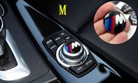audio stickers - 29mm Multimedia audio control buttons labeled labeling interior decoration car stickers modified for blue white b mw M Aluminum bottom resin