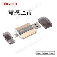 Wholesale Himatch usb flash drive disk pendrive for iPhone iPod iPad apple device MFi OTG