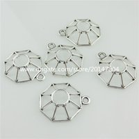 bead web - 20406 X Hollow Alloy Spider Web Design Fit mm Bead Pendant Antique Silver