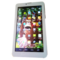 Wholesale 7 inch slim body MTK8312 GHZ MB GB mAh G WiFi Bluetooth HD Screen dual sim tablet Smart flat panel mobile phone GSM WCDMA