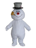 Wholesale Hottest Frosty Snowman Mascot Costume Walking Adult Cartoon Clothing