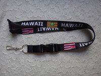 Wholesale Hawaii Flag black Lanyard with safe button for cell phone key chain strap cm x cm inch x inch