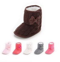 Cheap Knitting surface waist thick warm casual toddler shoes. 2016 winter snow boots newborn princess Walking boots hot sale baby wear XY