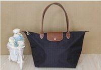 american coffee shop - hot sell Long Handle Women Tote Shopping Bag Nylon WaterProof Colorful Foldable Handbag