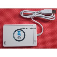 Wholesale USB ACR122U NFC RFID Smart Card Reader Writer For all types of NFC ISO IEC18092 Tags M1 Cards SDK CD