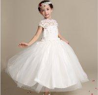 Wholesale 2016 new children s wear children s dresses flower bud silk dress bitter fleabane bitter fleabane skirt palace Children dress dress princess