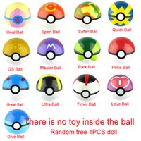 Wholesale 13Styles CM Pokeball CM Free Random Poke mon Figures Anime Action Figures Toys