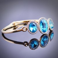 american exports - 2016 export hot design crystal concise fashion bracelet blue luxury popular elegant crystal classic bracelet LW317