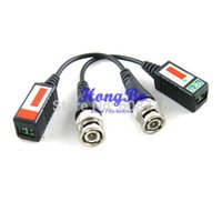 Wholesale shipping Twisted BNC CCTV Video Balun passive Transceivers UTP Balun BNC Cat5 CCTV UTP Video Balun up to ft Range