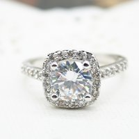 Wholesale Silver Plated Jewelry Luxury Crystal Zircon Rings for Women Fine Jewelry Engagement Finger Rings