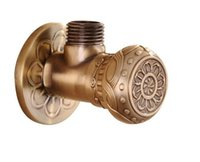 Wholesale good quality quot malex quot male Brass Bathroom Angle Stop Valve Antique finish Filling valves bathroom